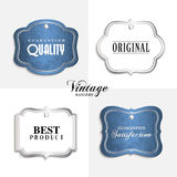 Vector vintage labels with text. Stock Photos