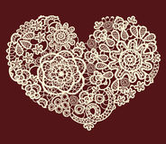 Vector vintage lace heart Stock Photography