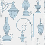 Vector vintage lamp seamless pattern Stock Photo