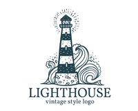 Free Vector Vintage Lighthouse Logo Template Royalty Free Stock Images - 111087039