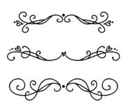 Vector vintage line elegant dividers and separators, swirls and corners decorative ornaments. Floral lines filigree design. Elements. Flourish curl elements for vector illustration