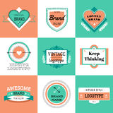 Vector vintage logo design elements. Vintage retro Stock Images
