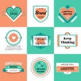 Vector vintage logo design elements. Vintage retro Stock Images