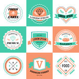 Vector vintage logo design elements. Vintage retro Stock Image