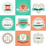 Vector vintage logo design elements. Vintage retro Stock Image