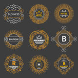 Vector vintage logos for hotel, restaurant Royalty Free Stock Photo