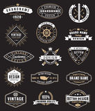 Vector Vintage logos and Insignas Royalty Free Stock Image