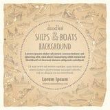 Vector vintage marine vessels background. Stock Image