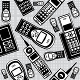 Vector vintage mobile phones seamless Royalty Free Stock Photos