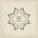 Vector vintage monogram Royalty Free Stock Images