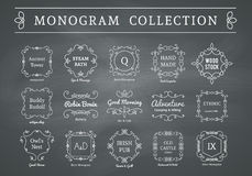 Vector vintage monogram set Stock Photos