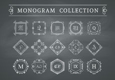 Vector vintage monogram set Royalty Free Stock Photo