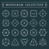 Vector vintage monogram set Stock Image