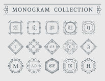 Vector vintage monogram set Royalty Free Stock Photography