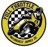 Vintage motorcycle badge stock illustration