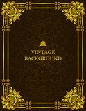 Vector vintage old background with royal gold pattern frame as a template to create book covers. Mockup, illustration. Vector vintage old background with royal royalty free illustration