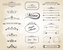 Vector Vintage Ornament Divide Border Stock Photo