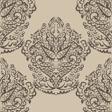 Vector vintage ornament Oriental motif style. Ornate element for design, wedding invitations, greeting cards, fabrics, wallpaper, texture. Traditional golden Royalty Free Stock Photo