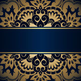 Vector vintage ornamental background. Royalty Free Stock Photo
