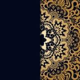 Vector vintage ornamental background. Vector vintage floral decorative background for design invitation card, packing, booklet, print Royalty Free Stock Photo