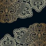 Vector vintage ornamental background. Vector background with gold floral vintage pattern Stock Image