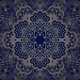 Vector vintage ornamental background. Vector background with gold floral vintage pattern Royalty Free Stock Photography
