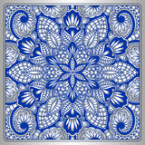 Vector vintage ornamental background. Vector vintage pattern for print, embroidery you can use this pattern for carpet, shawl, pillow, cushion Royalty Free Stock Image