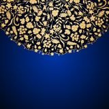Vector vintage ornamental background. Vector vintage floral decorative background for design invitation card, packing, booklet, print Royalty Free Stock Image