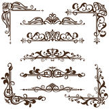 Vector vintage ornaments, corners, borders. Vintage frames, corners, borders with delicate swirls in Art Nouveau for decoration and design works with floral royalty free illustration