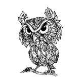 Vector vintage owl set icon set Stock Photo
