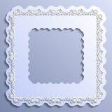 Vector vintage paper frame Stock Image