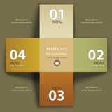 Vector vintage paper lines and numbers design template Royalty Free Stock Photography