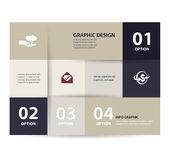 Vector vintage paper lines and numbers design template. Vector illustration. Infographics Options stock illustration