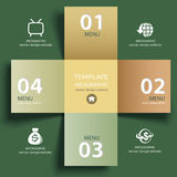 Vector vintage paper lines and numbers design template Royalty Free Stock Images