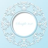 Vector vintage paper round frame Royalty Free Stock Photo