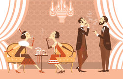 Vector vintage party Royalty Free Stock Images