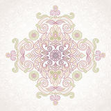 Vector vintage pattern in Eastern style on scroll work backgroun Stock Image