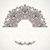 Vector vintage pattern in Eastern style on scroll work backgroun Royalty Free Stock Photo