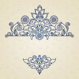 Vector vintage pattern in Eastern style. Royalty Free Stock Photo
