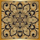 Vector vintage ornamental background. Vector vintage pattern for print, embroidery you can use this pattern for carpet, shawl, pillow, cushion Royalty Free Stock Photography