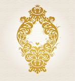Vector vintage pattern in Victorian style. Royalty Free Stock Image