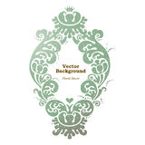 Vector vintage pattern in Victorian style. Royalty Free Stock Photo