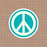 Vector vintage peace sticker Royalty Free Stock Photography