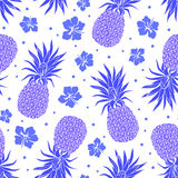 Vector Vintage pineapple seamless pattern Royalty Free Stock Photos