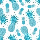Vector Vintage pineapple seamless pattern Stock Photos