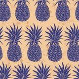 Vector Vintage pineapple seamless pattern Stock Photo