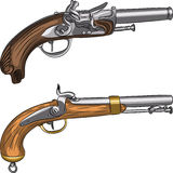Vector vintage pistols Royalty Free Stock Photography