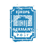 Vector vintage postage europe mail stamp. Stock Images