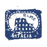 Vector vintage postage italia mail stamp. Stock Photo