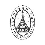 Vector vintage postage paris mail stamp. Stock Photos